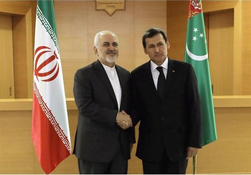 دیدار ظریف با وزیر خارجه ترکمنستان