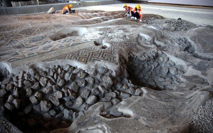 بزرگترین اثر موزاییکی باستانی دنیا در ترکیه