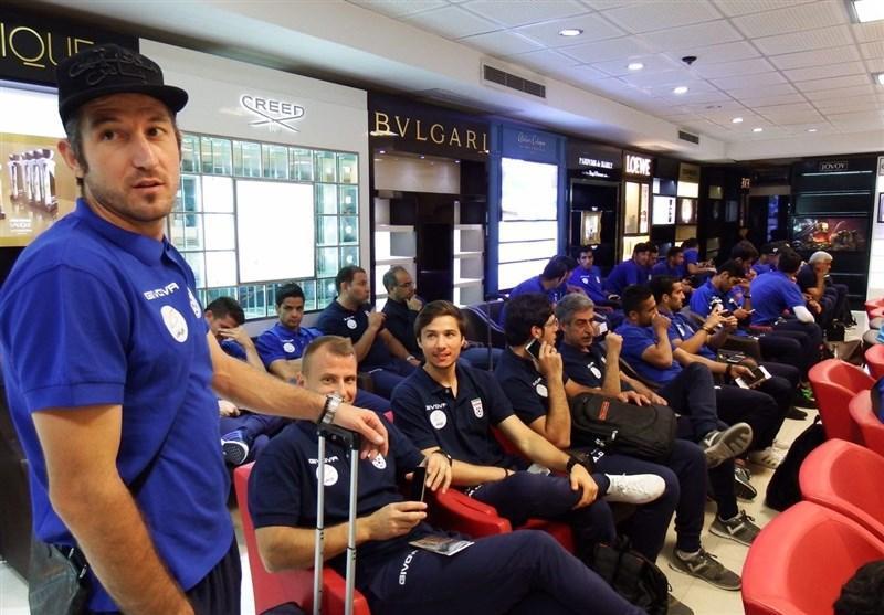 تیم ملی فوتبال به ایتالیا سفر کرد
