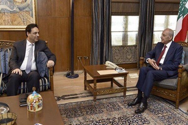 رایزنی نخست وزیر لبنان با رئیس مجلس این کشور