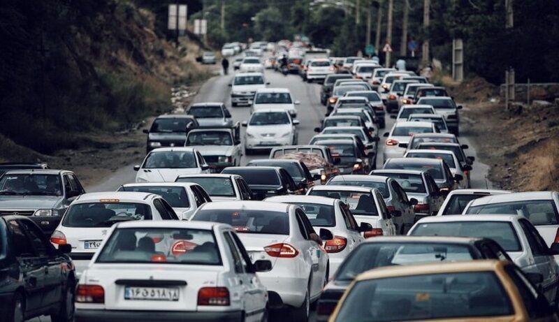 خبرنگاران ترافیک سنگین در جاده کرج - چالوس