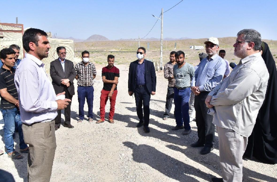 خبرنگاران بازدید میدانی استاندار خراسان جنوبی از روستاهای بیرجند