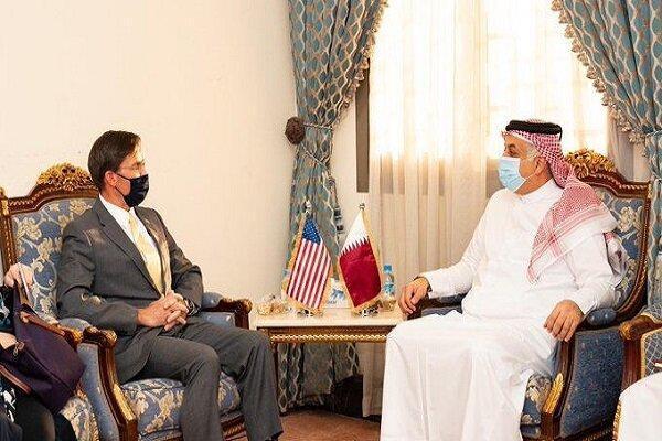 وزیران دفاع آمریکا و قطر ملاقات کردند