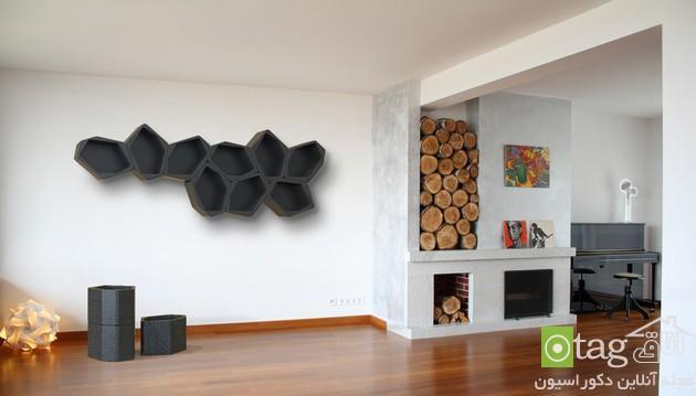 قفسه و کتابخانه های تنظیم پذیر و مدولار با طراحی شیک و مدرن