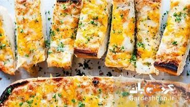 طرز تهیه نان سیر پنیری با ترکیب سه پنیر پرطرفدار