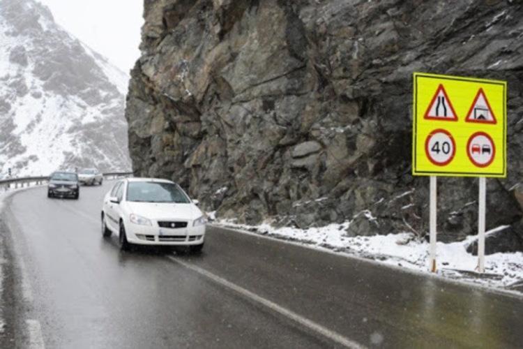 احتمال یخ بندان در جاده های شمال