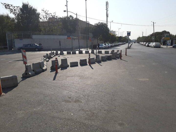 تسهیل تردد اتوبوس ها در پایانه شهید سروری با احداث میدان جدید