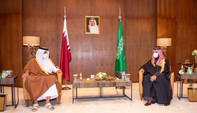 ملاقات بن سلمان و امیر قطر پس از نشست شورای همکاری خلیج فارس