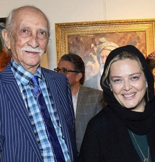 بهاره رهنما در کنار داریوش اسدزاده