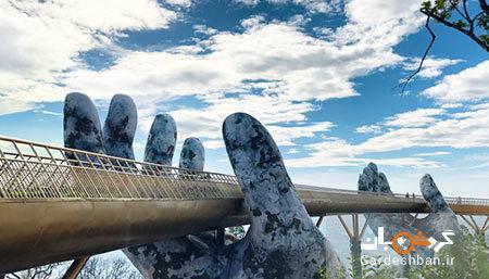 پل طلایی یا پل دست خدا؛جاذبه دیدنی ویتنام، تصاویر