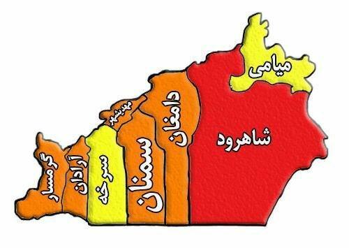 شاهرود تنها شهر قرمز استان، قربانیان کرونا در سمنان به 1363نفر رسیدند